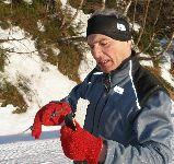 Tomáš p=rvní den Pod Liškou zlomil lyži..
